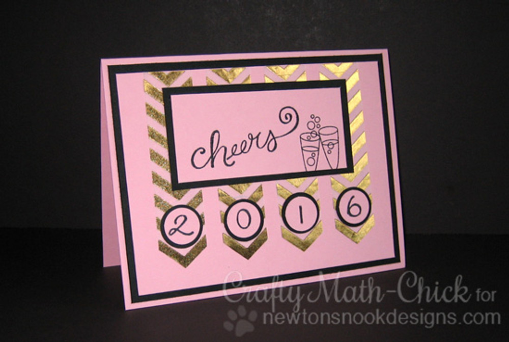 New Years  Card   Years of Cheers   3x4 photopolymer Stamp Set   Newton's Nook Designs