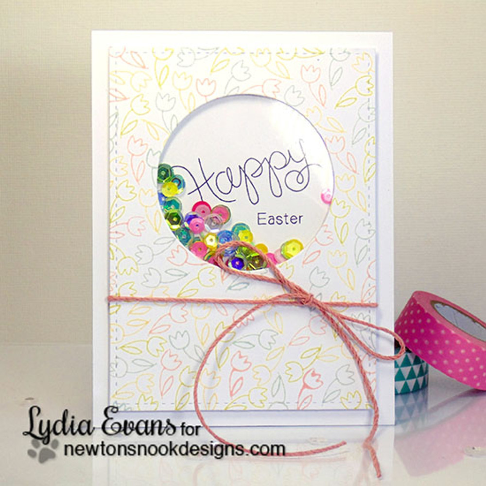 Happy Easter Card | Simply Seasonal | 4x6 Photopolymer Stamp Set | Newton's Nook Designs