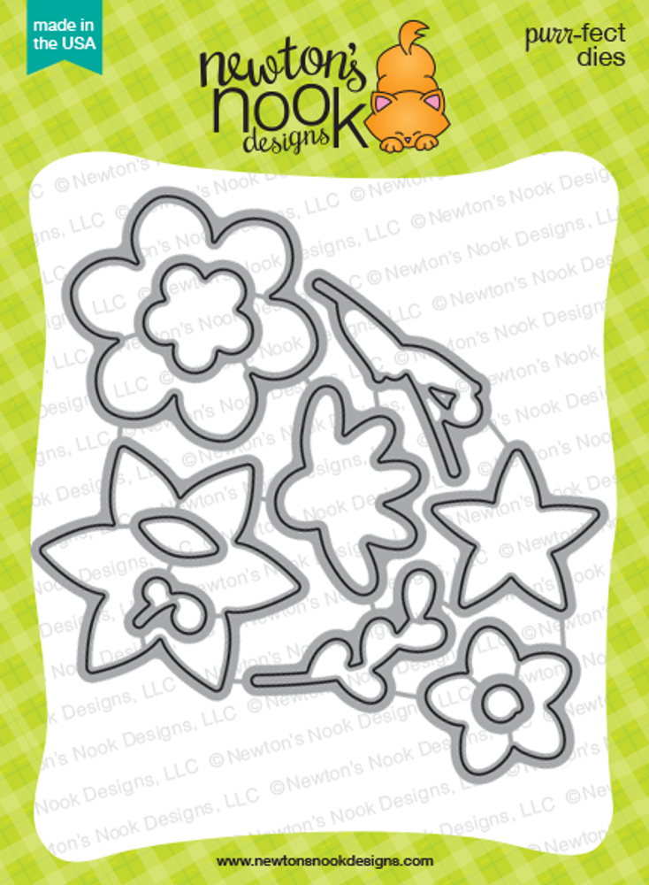 Beautiful Blossoms Die set by Newton's Nook Designs