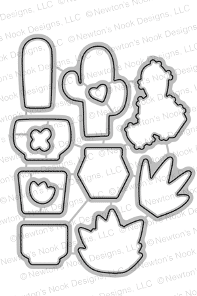 Cultivated Cacti Die Set by Newton's Nook Designs