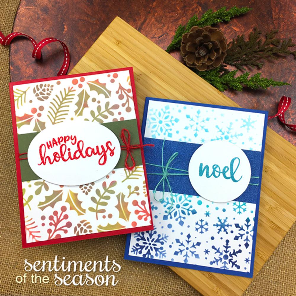 Sentiments of the Season Stamp Set ©2017 Newton's Nook Designs