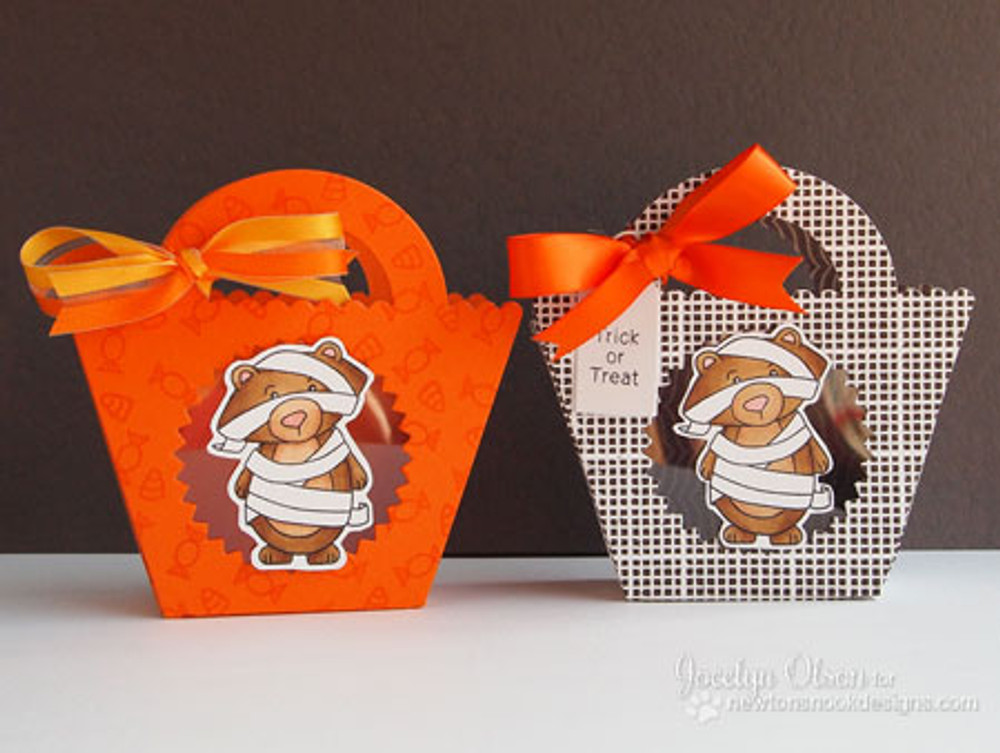Halloween Treat Boxes |  Boo Crew Stamp Set by Newton's Nook Designs