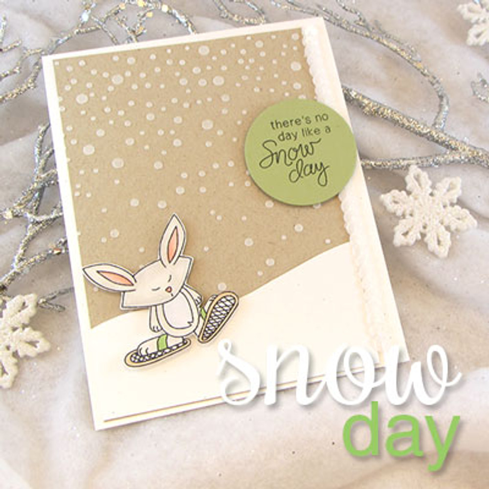 Snow shoe Bunny Card using Snow Day Stamp Set by Newton's Nook Designs