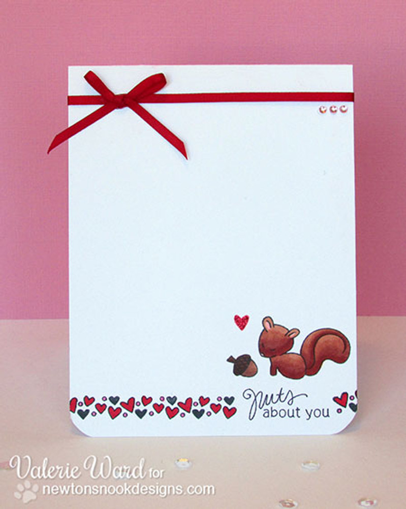 Nuts about You Squirrel Love Card    Sweetheart Tails Stamp Set by Newton's Nook Designs