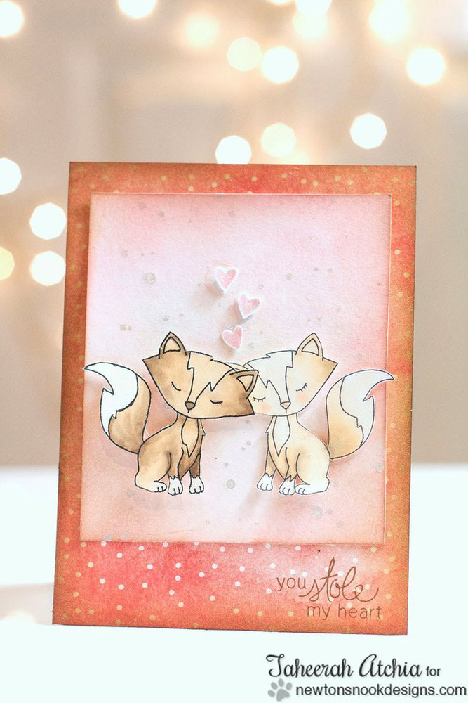 Fox Love Card   Sweetheart Tails Stamp Set by Newton's Nook Designs