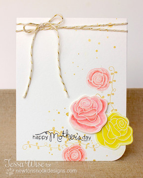 Mother's Day Rose Card  | Love Grows stamp set by Newton's Nook Designs