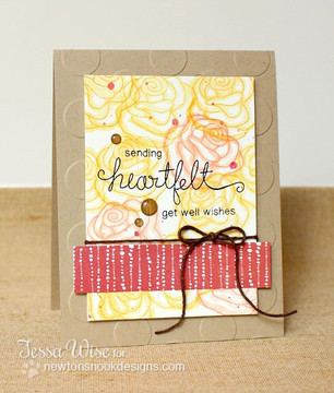Heartfelt Rose Card  | Love Grows stamp set by Newton's Nook Designs