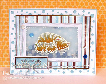 Tiger and cub welcome baby card  | Wild Child stamp set by Newton's Nook Designs