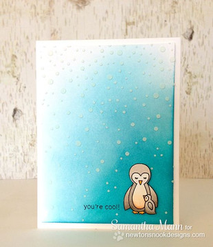 You're Cool Penguin Card | Wild Child stamp set by Newton's Nook Designs