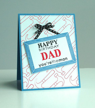 Dad Card wtih Hammers   | Around the House Stamp Set | Newton's Nook Designs