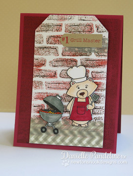 Father's Day Grilling Bear Card | Winston's BBQ stamp set by Newton's Nook Designs