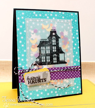 Haunted House Card | Spooky Street | 4x6 photopolymer Stamp Set | Newton's Nook Designs