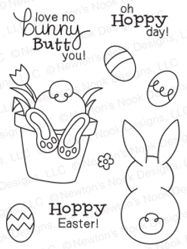 Bunny Hop | 3x4 Photopolymer Stamp Set | Newton's Nook Designs