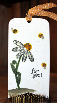 Flower tag   Beautiful Blossoms   4x6 photopolymer Stamp Set   Newton's Nook Designs