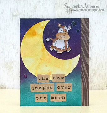 Cow Jumped over the Moon | Farmyard Friends | 4x6 photopolymer Stamp Set | Newton's Nook Designs