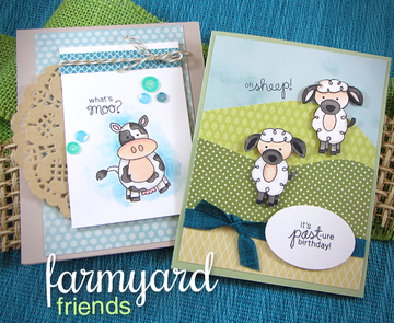 Farmyard Friends | 4x6 Photopolymer Stamp Set | Newton's Nook Designs