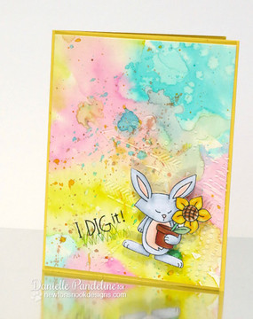 Bunny Garden Card | Garden Whimsy | 4x6 photopolymer Stamp Set | Newton's Nook Designs
