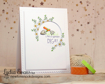 Garden Friendship Card | Garden Whimsy | 4x6 photopolymer Stamp Set | Newton's Nook Designs
