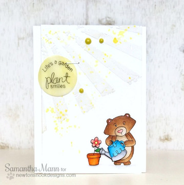 "Bear ""Plant Smiles"" Friendship Card 