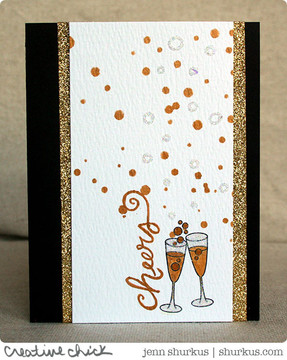 Anniversary Card   Years of Cheers   3x4 photopolymer Stamp Set   Newton's Nook Designs