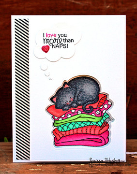Cat Love Card   Newton's Naptime Stamp Set by Newton's Nook Designs