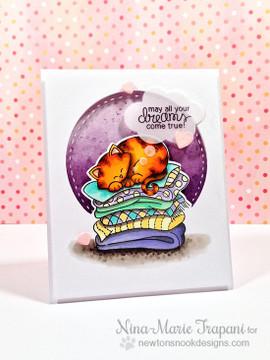 Cat Friendship Card   Newton's Naptime Stamp Set by Newton's Nook Designs