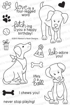 Fetching Friendship | 4x6 Photopolymer Stamp Set | Newton's Nook Designs
