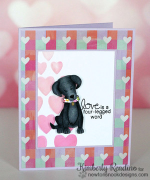 Friendship Dog Card | Fetching Friendship | 4x6 photopolymer Stamp Set | Newton's Nook Designs