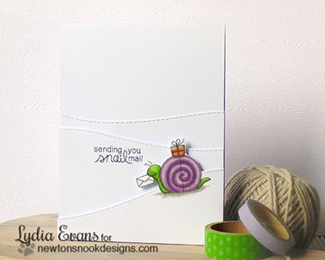 Snail Friendship Card | In Slow Motion | 4x6 Photopolymer Stamp Set | Newton's Nook Designs
