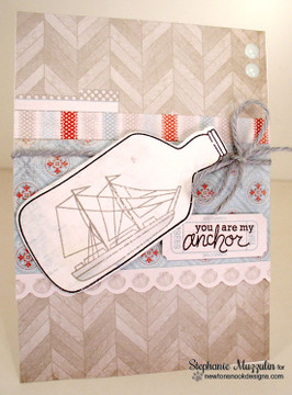 Nautical Friendship Card | Message In A Bottle Stamp Set by Newton's Nook Designs