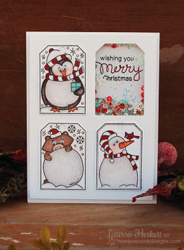 Shaker Tag Card | Jolly Tags | 4x6 Photopolymer Stamp Set | Newton's Nook Designs