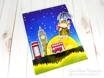 Newton Dreams of London Stamp set by Newton's Nook Designs