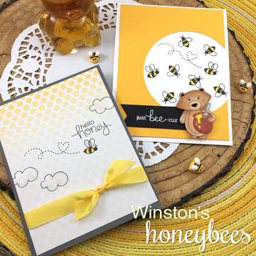 Winston's Honeybees Stamp Set by Newton's Nook Designs