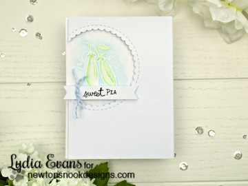 Sweet Pea Baby Card using Vegetable Garden Stamp Set by Newton's Nook Designs