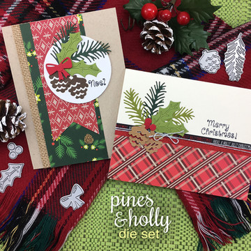 Pines & Holly Die Set ©2016 Newton's Nook Designs