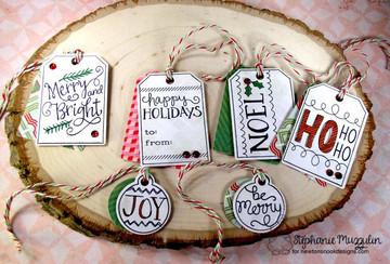 Joyful Tags Stamp Set by Newton's Nook Designs