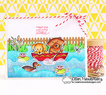 Winston's Lake House Stamp Set by Newton's Nook Designs