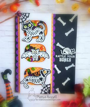 Spooky Skeletons Stamp Set by Newton's Nook Designs