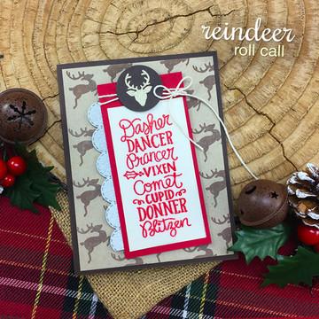 Reindeer Roll Call Stamp Set ©2017 Newton's Nook Designs