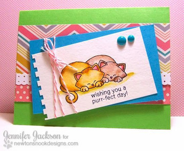 Purrfect Day Cat Couple  | Newton's Antics Stamp set by Newton's Nook Designs