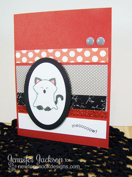 Ghosty Cat Halloween Card |  Boo Crew Stamp Set by Newton's Nook Designs