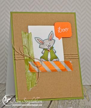 Vampire Bunny Halloween Card |  Boo Crew Stamp Set by Newton's Nook Designs