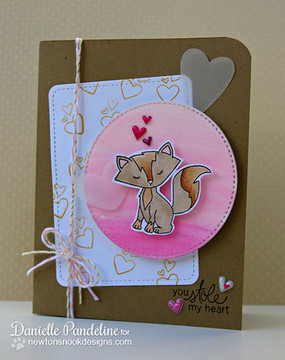 Fox Love Card made using Sweetheart Tails Stamp Set by Newton's Nook Designs