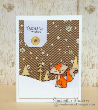 Fox Winter Card   Sweetheart Tails Stamp Set by Newton's Nook Designs