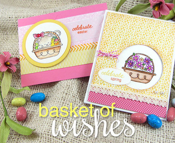 Easter and Spring Cards | Basket of Wishes stamp set by Newton's Nook Designs
