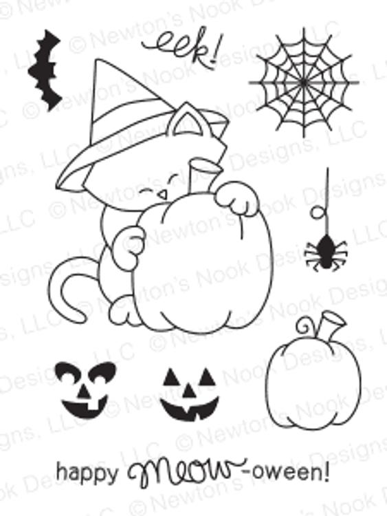 Newton's Perfect Pumpkin | 3x4 photopolymer Stamp Set | Newton's Nook Designs