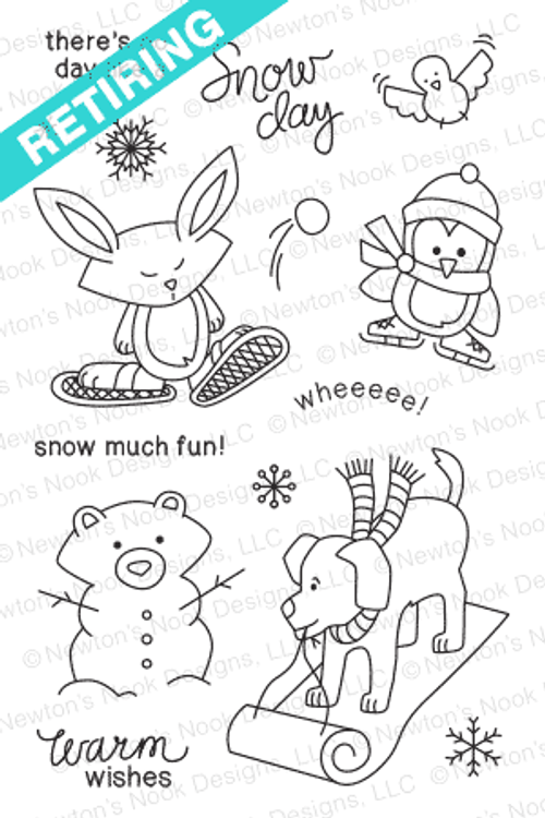 Snow Day Stamp Set by Newton's Nook Designs