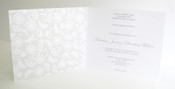 White & Grey - Card Style Wedding Invitation