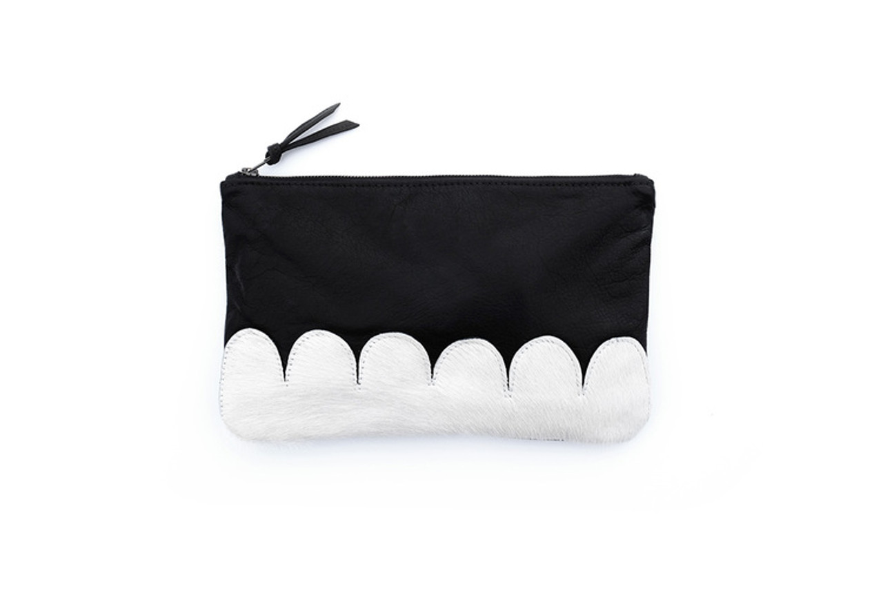 White Scallop Clutch