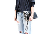 Salt + Pepper Fold-over Clutch